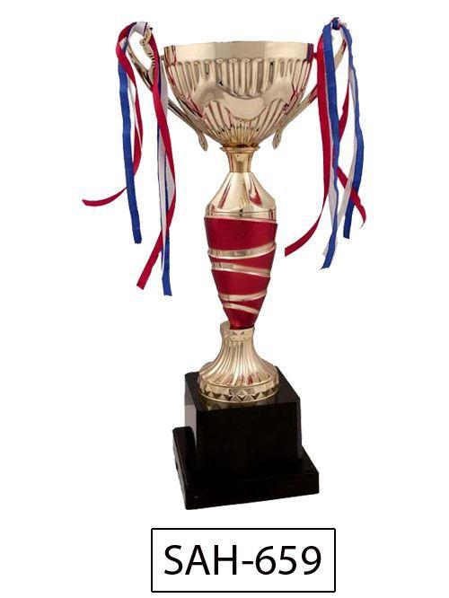red fancy trophy