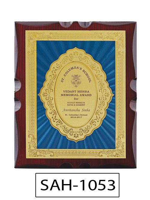 wooden round award
